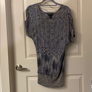 INC blue/gold tunic